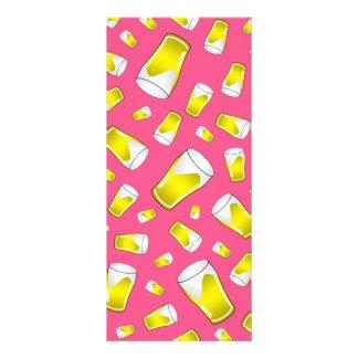 Teste padrão cor-de-rosa da cerveja 10.16 x 22.86cm panfleto