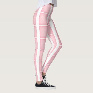 Teste padrão cor-de-rosa da malha legging