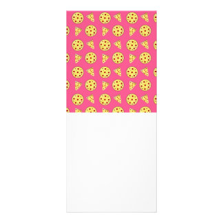 teste padrão cor-de-rosa da pizza 10.16 x 22.86cm panfleto