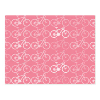 teste padrão cor-de-rosa das bicicletas cartão postal