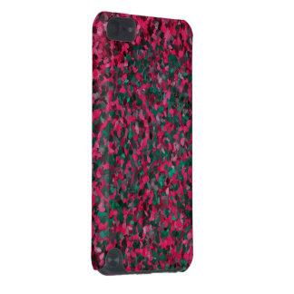Teste padrão cor-de-rosa do abstrato do verde capa para iPod touch 5G