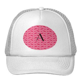 Teste padrão cor-de-rosa do bigode do monograma bones