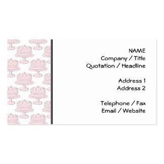 Teste padrão cor-de-rosa do bolo cartão de visita