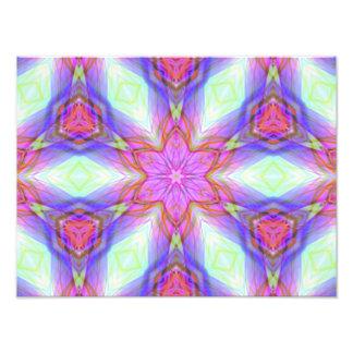 Teste padrão cor-de-rosa do caleidoscópio da flor. impressão de foto