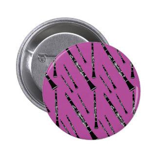 Teste padrão cor-de-rosa do clarinete pins