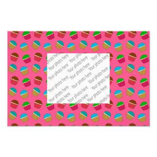 Teste padrão cor-de-rosa do cupcake fotos