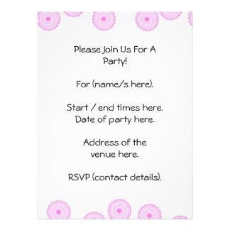 Teste padrão cor-de-rosa do cupcake convite