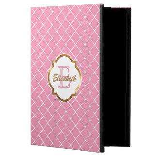 Teste padrão cor-de-rosa do diamante, folha de capa para iPad air 2