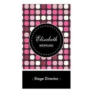 Teste padrão cor-de-rosa do diretor de palco polca cartão de visita