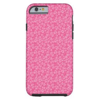Teste padrão cor-de-rosa do Flourish do rosa Capa Tough Para iPhone 6