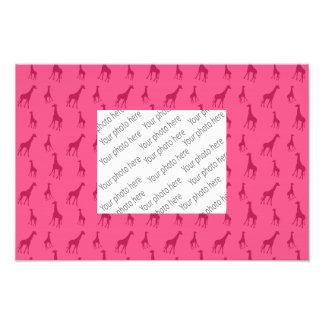 Teste padrão cor-de-rosa do girafa fotografias