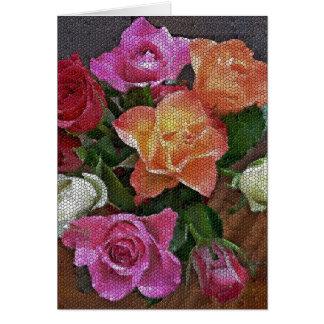 Teste padrão cor-de-rosa do mosaico bonito no cart cartoes