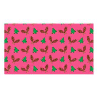 Teste padrão cor-de-rosa do sapato de neve modelos cartoes de visita