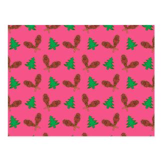 Teste padrão cor-de-rosa do sapato de neve cartão postal