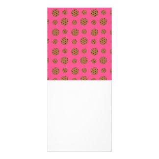 Teste padrão cor-de-rosa dos biscoitos dos pedaços 10.16 x 22.86cm panfleto