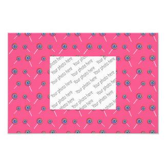 teste padrão cor-de-rosa dos doces impressão de foto