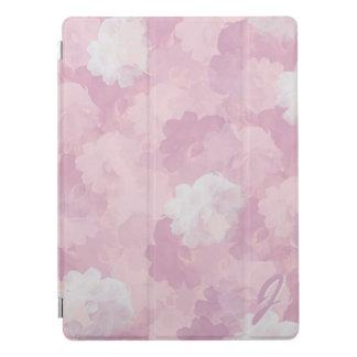 Teste padrão cor-de-rosa dos rosas da aguarela capa para iPad pro