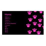 Teste padrão cor-de-rosa e preto brilhante do impr cartão de visita