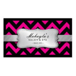 Teste padrão cor-de-rosa e preto magenta elegante  cartões de visita