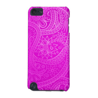 Teste padrão cor-de-rosa elegante de Paisley Capa Para iPod Touch 5G