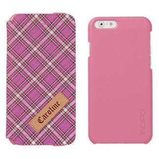 Teste padrão cor-de-rosa feminino do Tartan da