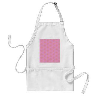 Teste padrão cor-de-rosa feminino Funky Avental