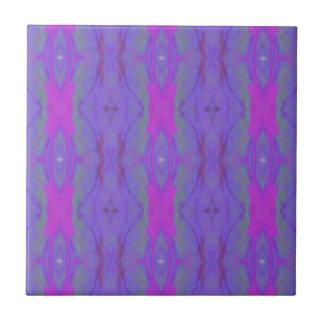 Teste padrão cor-de-rosa fluorescente do chique da azulejo quadrado pequeno