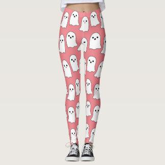 Teste padrão cor-de-rosa legal dos fantasmas dos legging