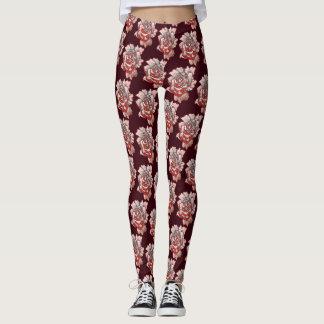 Teste padrão cor-de-rosa macio legging