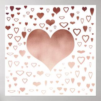 teste padrão cor-de-rosa moderno elegante dos pôster