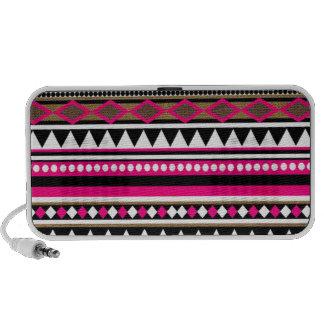 Teste padrão cor-de-rosa preto asteca caixinhas de som para pc