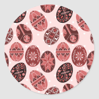 Teste padrão cor-de-rosa vermelho dos ovos da adesivo