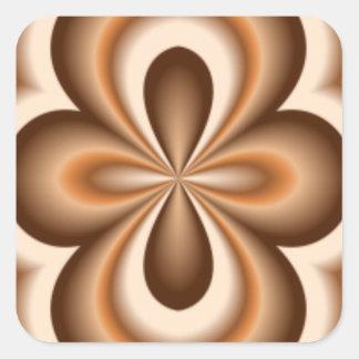 Teste padrão cremoso do chocolate do caramelo adesivo quadrado
