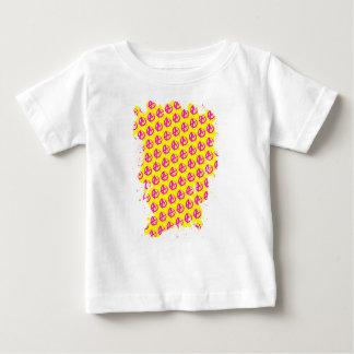 Teste padrão da anarquia camiseta para bebê