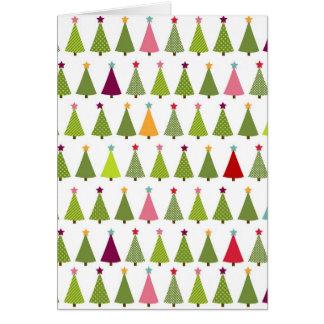 Teste padrão da árvore de Natal Cartoes
