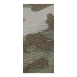 teste padrão da camuflagem do camo 10.16 x 22.86cm panfleto