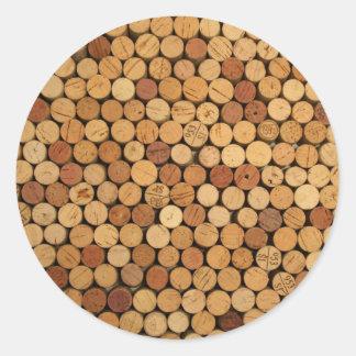 Teste padrão da cortiça do vinho adesivo