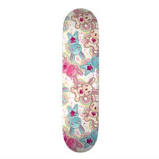 Teste padrão da criança de Kawaii com Doodles boni Shape De Skate 20,6cm