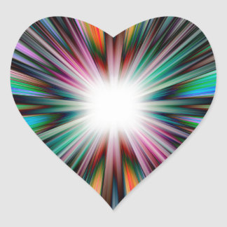 Teste padrão da explosão de Starburst Adesivo Coração