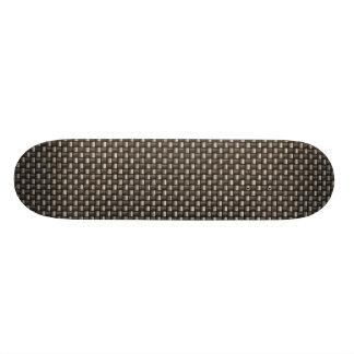 Teste padrão da fibra do carbono (falso) shape de skate 20,6cm