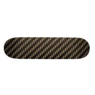 Teste padrão da fibra do carbono (falso) shape de skate 21,6cm