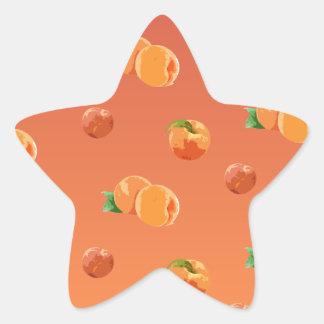 Teste padrão da fruta do pêssego adesivo estrela