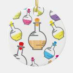 Teste padrão da garrafa do laboratório ornamentos para arvore de natal