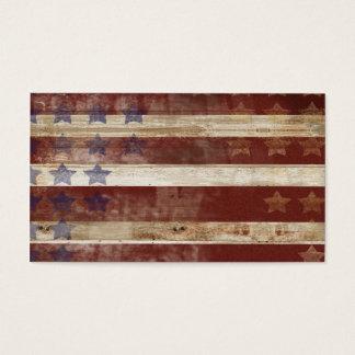 Teste padrão da madeira de pinho da bandeira dos cartão de visitas