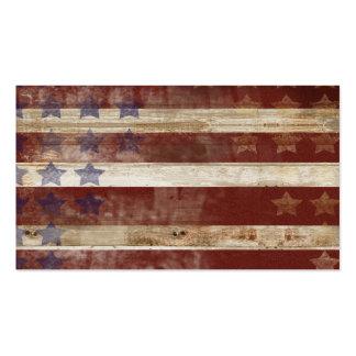 Teste padrão da madeira de pinho da bandeira dos E Cartão De Visita