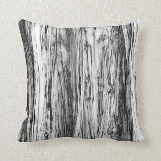 Teste padrão da madeira lançada costa - preto, almofada