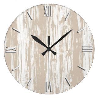 Teste padrão da madeira lançada costa - tan e relógios de pendurar