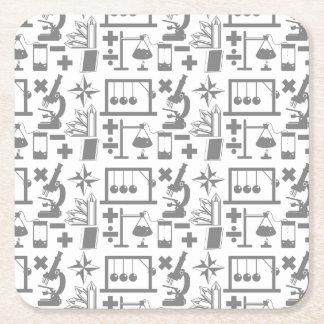 Teste padrão da matemática da geografia da física porta-copo de papel quadrado