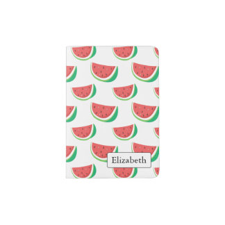 Teste padrão da melancia do divertimento capa para passaporte