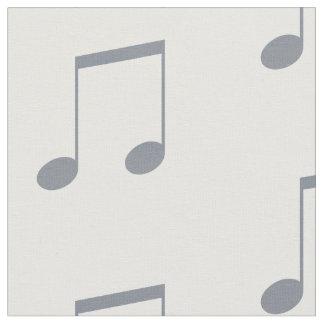 Teste padrão da nota musical tecido